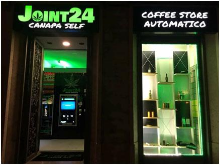JOINT24 Canapa Self il Coffee Shop automatico di tendenza