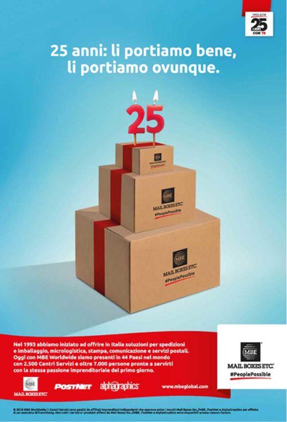 MAIL BOXES 25 Anni: li portiamo bene, li portiamo ovunque!