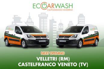 Eco Car Wash 2 Nuove Aperture:  Velletri e Castelfranco Veneto