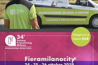 Ecoline Wash vi dà appuntamanento al 34 Salone Franchising di Milano
