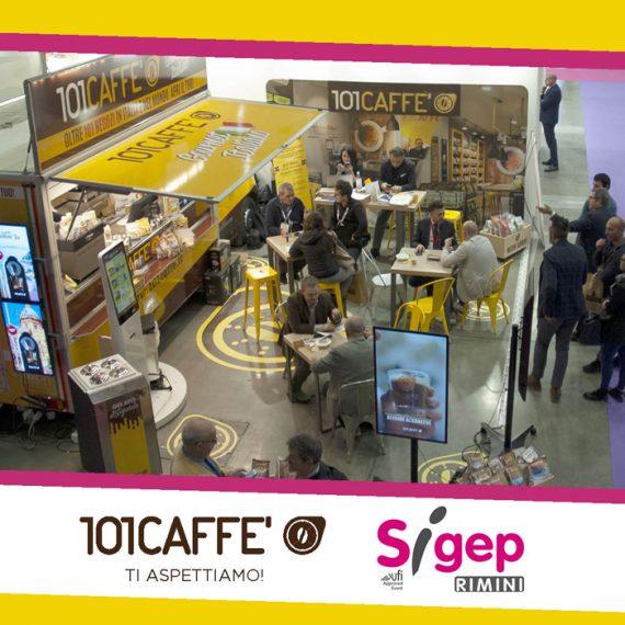 101CAFFE' al Sigep di Rimini con la caffetteria itinerante