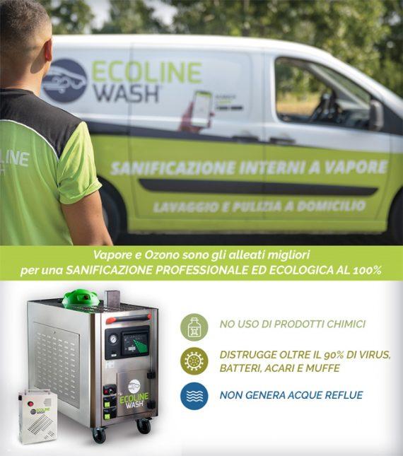 ECOLINE WASH: con vapore e ozono la sanificazione è ancora più professionale!