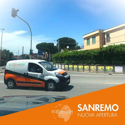 Eco Car Wash: la nuova apertura MOBILE SANREMO